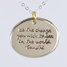 GRADUATION GIFT.....Be The Change Pendant Necklace.....FREE SHIPPING