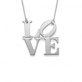 Iconic Robert Indiana's LOVE Necklace....FREE SHIPPING