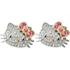 CLOSEOUT......Kitty Crystal Earrings...FREE SHIPPING