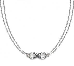 Sterling Silver Infinity Necklace ......FREE SHIPPING
