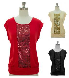 Regular and Plus Size Fun Sequin Tops