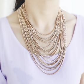 Gold Drape Chain Necklace.....FREE SHIPPING