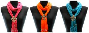 Fleur De Lis Charm Scarf in 3 Colors....FREE SHIPPING