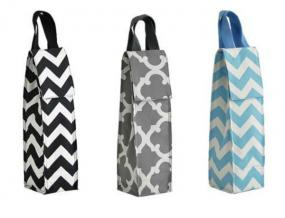 Monogrammed Insulated Wine Bags in Fabulous Prints......FREE SHIPPING