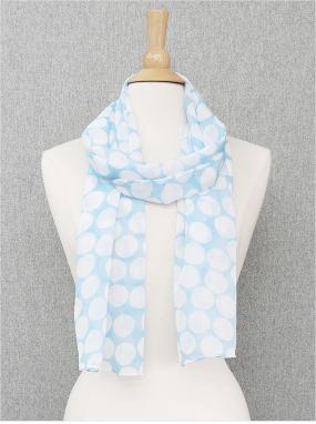 Light Blue Dot Scarf....FREE SHIPPING