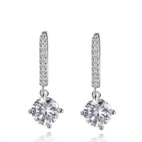 Swarovski Pave Sterling Drop Earrings.....FREE SHIPPING