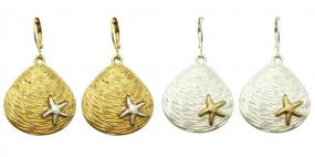 Nautical Scallop Earrings in Silver and Gold....FREE SHIPPING