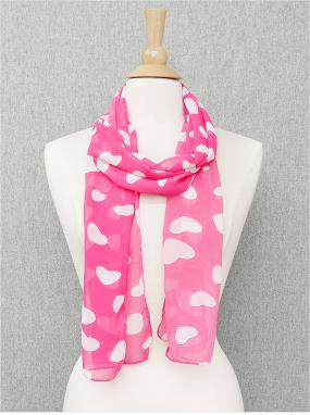 Pink Heart Scarf....FREE SHIPPING