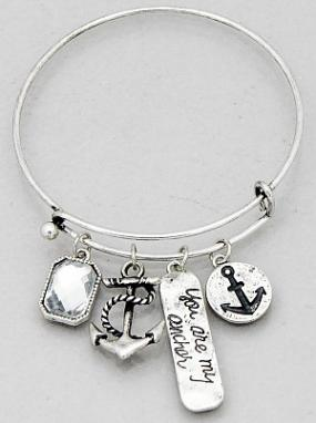 You Are My Anchor Bangle Bracelet