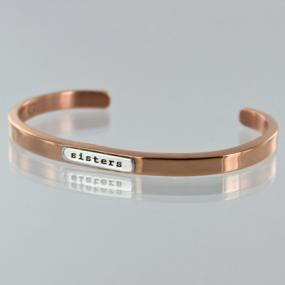 Sisters Forever Bangle with Hidden Message