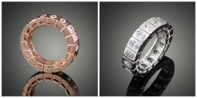 REDUCED....Eternity Marquis Ring in Platinum or Rose Gold....FREE SHIPPING