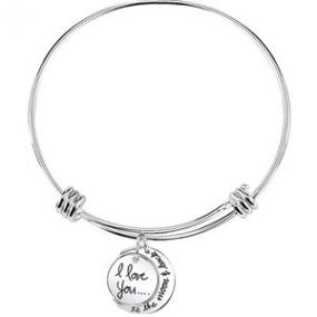 Love You To The Moon And Back Expandable Bracelet....FREE SHIPPING