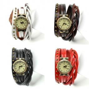 Braided Leather Wrap Watches.....FREE  SHIPPING