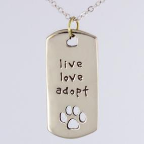Live Love Adopt Necklace.....FREE SHIPPING