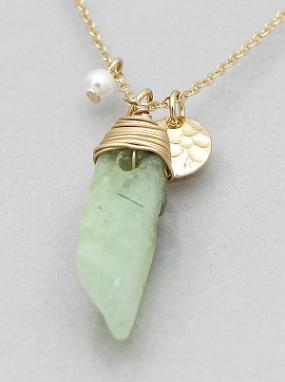 Wire Wrapped Stone Necklace....FREE SHIPPING