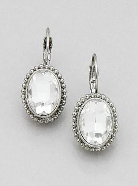 Oval Faceted French Back Earrings...FREE SHIPPING!!
