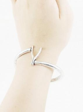 REDUCED......Lucky Wishbone Hinged Bracelet......FREE SHIPPING