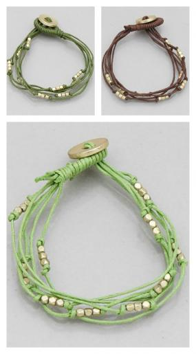 CLOSEOUT....Stackable Button Bracelets in 3 Colors! FREE SHIPPING