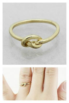 Size 7 Love Knot Ring in Gold Finish FREE SHIPPING