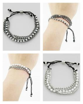 Beaded Pull Tie Stackable Bracelets.....FREE SHIPPING