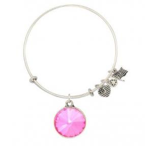 LIMITED STOCK.....Expandable Bracelet with Semi Precious Stone  Pink Tourmaline or Green Chalcedony