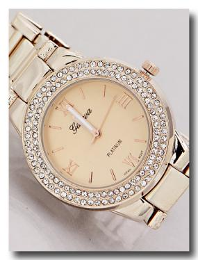 Rose Gold Crystal Watch...LIMITED STOCK!