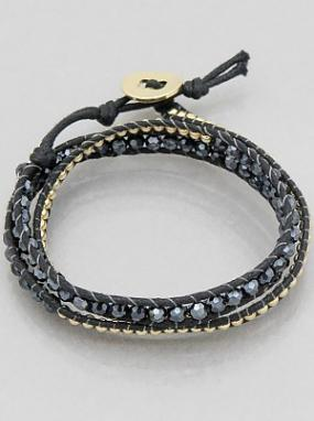 Gold and Black Wrap Around Bracelets FREE SHIPPING