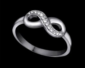 Silver Diamond Infinity Ring.....FREE SHIPPING