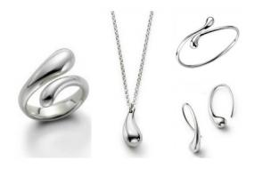 VALENTINES DAY SPECIAL.....5 Piece Teardrop Jewelry Set...Free Shipping
