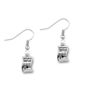 Graduation Diploma Earrings.....FREE SHIPPING