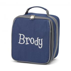 Personalized Navy Blue Insulated Lunch Bag....SHIPS FREE