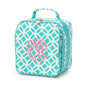 Personalized Aqua Insulated Lunch Bag....SHIPS FREE