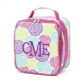 Personalized Bursting Blooms Insulated Lunch Bag....SHIPS FREE