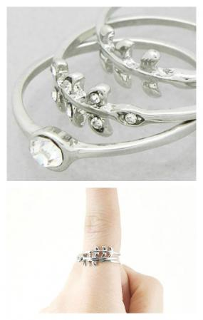 3 Stackable Leaf Rings.....FREE SHIPPING