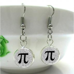 Pi Earrings for Mathematicians and Scientists