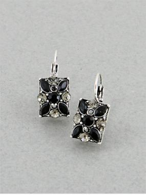 Jeweled Cluster Earrings in 5 Color Choices....FREE SHIPPING