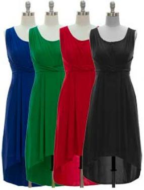 BLOWOUT PRICE......All Occasion High/Low Dress in Black.....FREE SHIPPING