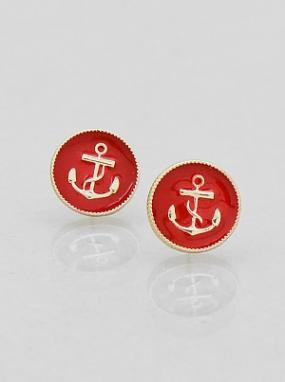 Anchor Stud Earrings - FREE SHIPPING