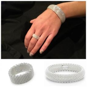 CLOSEOUT.......Mesh Bracelet and Ring Set...FREE SHIPPING