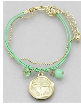 CLOSEOUT.....Delicate Dragonfly Bracelets in Turquoise and White......Free Shipping