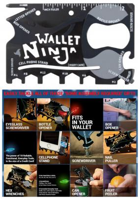 Wallet Ninja 18-in-1 Multi-Tool - Credit Card Size - The only tool you'll ever need.