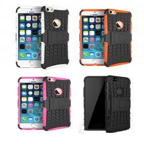 Dual Layer Hybrid Hard Rubber Case For Apple iPhone 6 4.7""