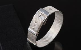 Mesh Silver Buckle Bracelet   FREE SHIPPING