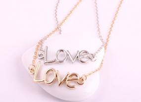 Love Necklace in Silver or Gold....FREE SHIPPING