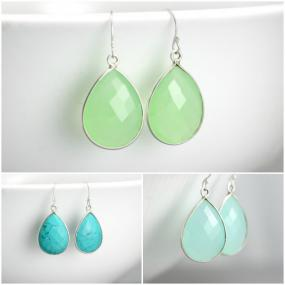 Teardrop Crystal Earrings....FREE SHIPPING