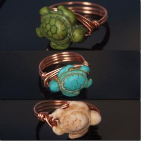 Adorable Turtle Wire Wrapped Rings