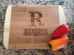 Personalized 8 x 6 Bamboo Cutting Board