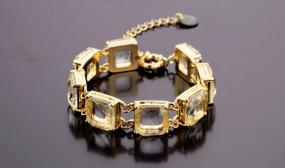Nora Vintage Glass Chain Link Bracelet.....FREE SHIPPING