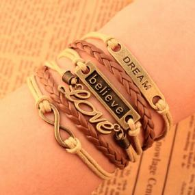 Inspirational Leather Wrap Bracelet FREE SHIPPING!