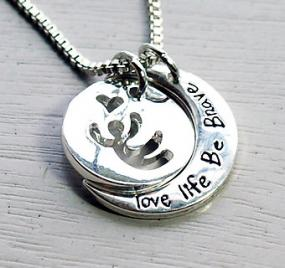 Love Life Be Brave Necklace.....FREE SHIPPING